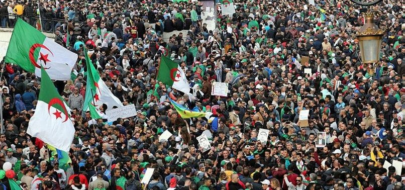 ALGERIANS FLOOD STREETS TO MARK THE FIRST ANNIVERSARY OF PROTEST MOVEMENT