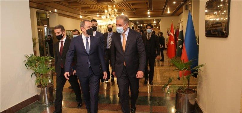 AZERBAIJANS TOP DIPLOMAT ARRIVES IN PAKISTAN