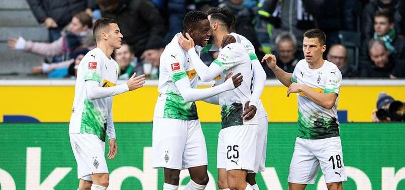 PATRICK HERRMANN DOUBLE KEEPS BORUSSIA MOENCHENGLADBACH TOP OF THE BUNDESLIGA