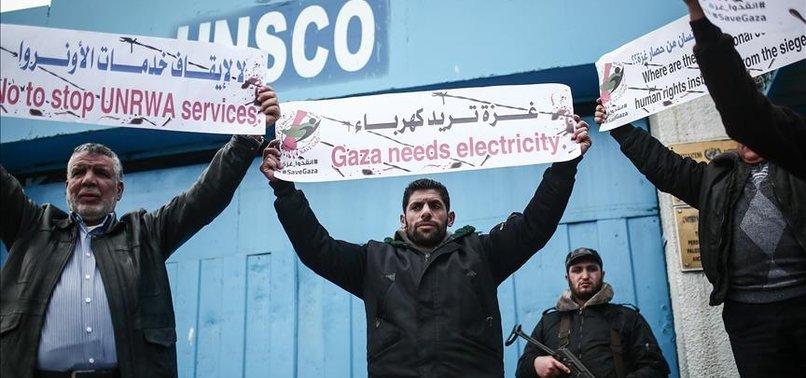 GAZANS PROTEST US FUND CUTS FOR UN PALESTINE AID AGENCY
