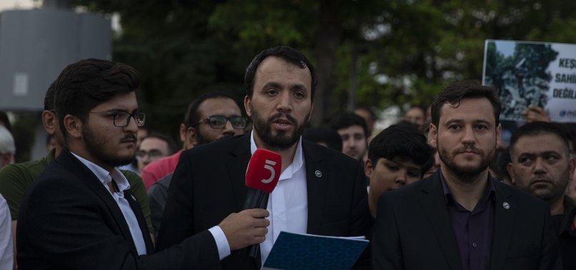 TURKISH NGOS PROTEST INDIAS KASHMIR MOVE