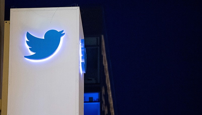 his file photo taken on November 4, 2016 shows the Twitter logo at the company's headquarters in San Francisco, California. (AFP Photo)