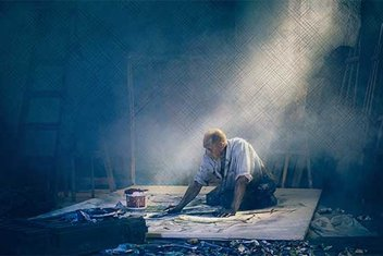 Eli resim kalbi şiir olan ressam şairler