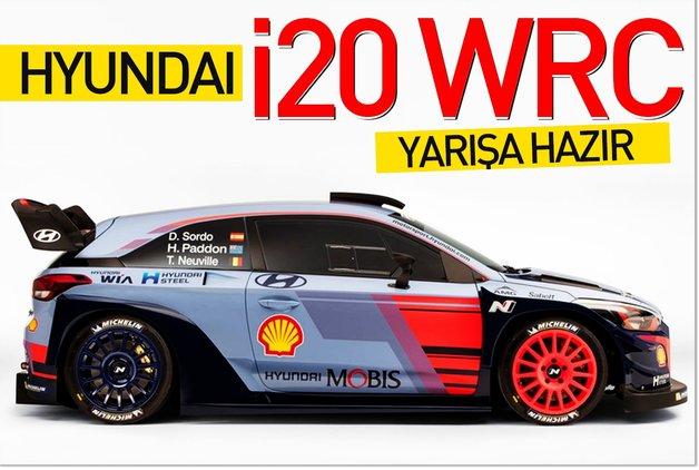 Hyundai i20 WRC yarışa hazır