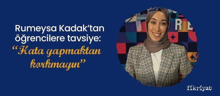 """Türkiye'nin en genç milletvekili Rümeysa Kadak'tan öğrencilere tavsiye: """"Hata yapmaktan korkmayın"""""""