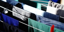 Drying wet laundry indoors could damage your lungs