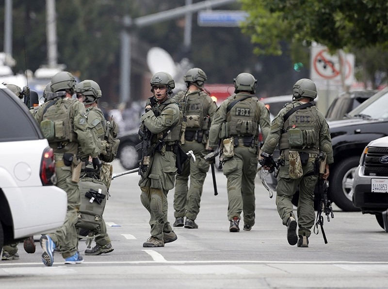 n FBI SWAT team arrives at the scene of a fatal shooting at the University of California, Los Angeles, Wednesday, June 1, 2016, in Los Angeles. (AP Photo)
