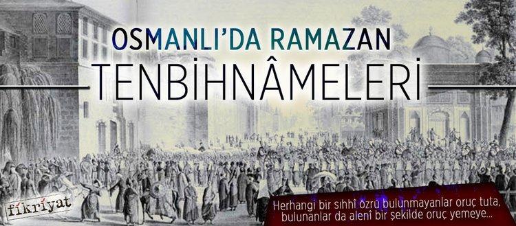 Osmanlı'da Ramazan tenbihnâmeleri