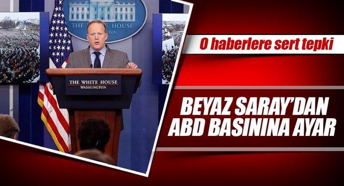 Beyaz Saraydan ABD basınına ayar