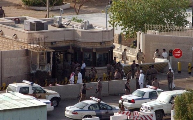 US consulate in Jedday, Saudi Arabia (AP Photo)
