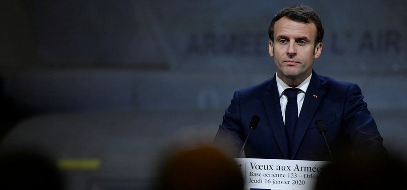 FRENCH POLICE EVACUATE MACRON FROM THEATRE AMID PROTEST