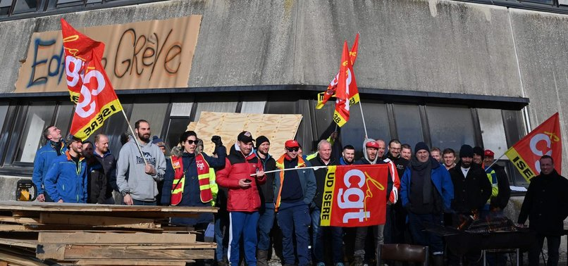 PENSION PROTEST AT FRANCES BIGGEST HYDRO-DAM CREATES POWER SHORTFALL