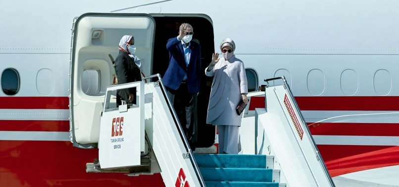 TURKEYS PRESIDENT ARRIVES IN NEW YORK TO ATTEND 76TH UN GENERAL ASSEMBLY