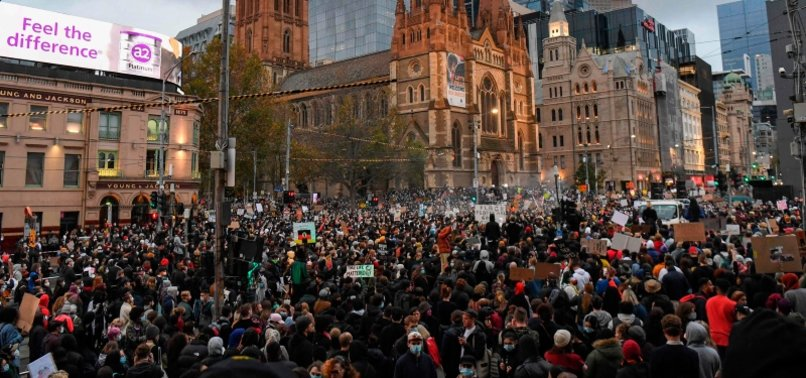 PROTESTERS SUPPORT FLOYD, BLACK LIVES MATTER ON 3 CONTINENTS