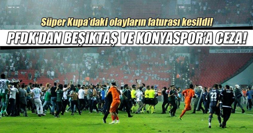 PFDK'dan Beşiktaş'a ve Konyaspor'a ceza!