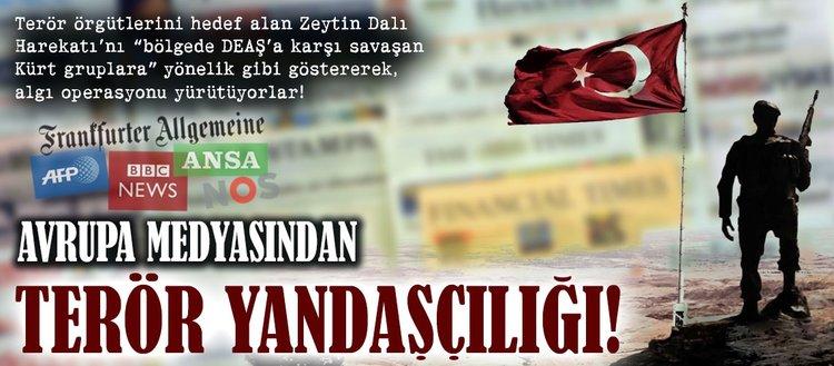 Avrupa medyasından terör yandaşçılığı!