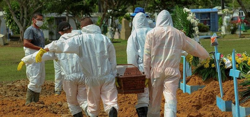 BRAZIL REPORTS 527 NEW COVID-19 DEATHS