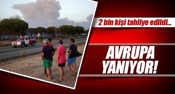 İspanyada orman yangını: 2 bin kişi tahliye edildi