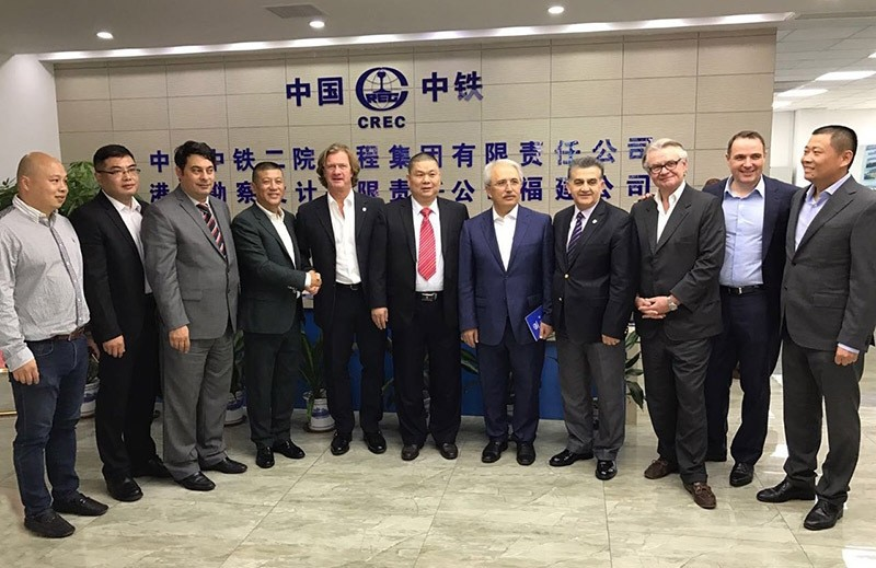 Turkish delegation visiting China for an initial agreement regarding tourism and trade. (IHA Photo)