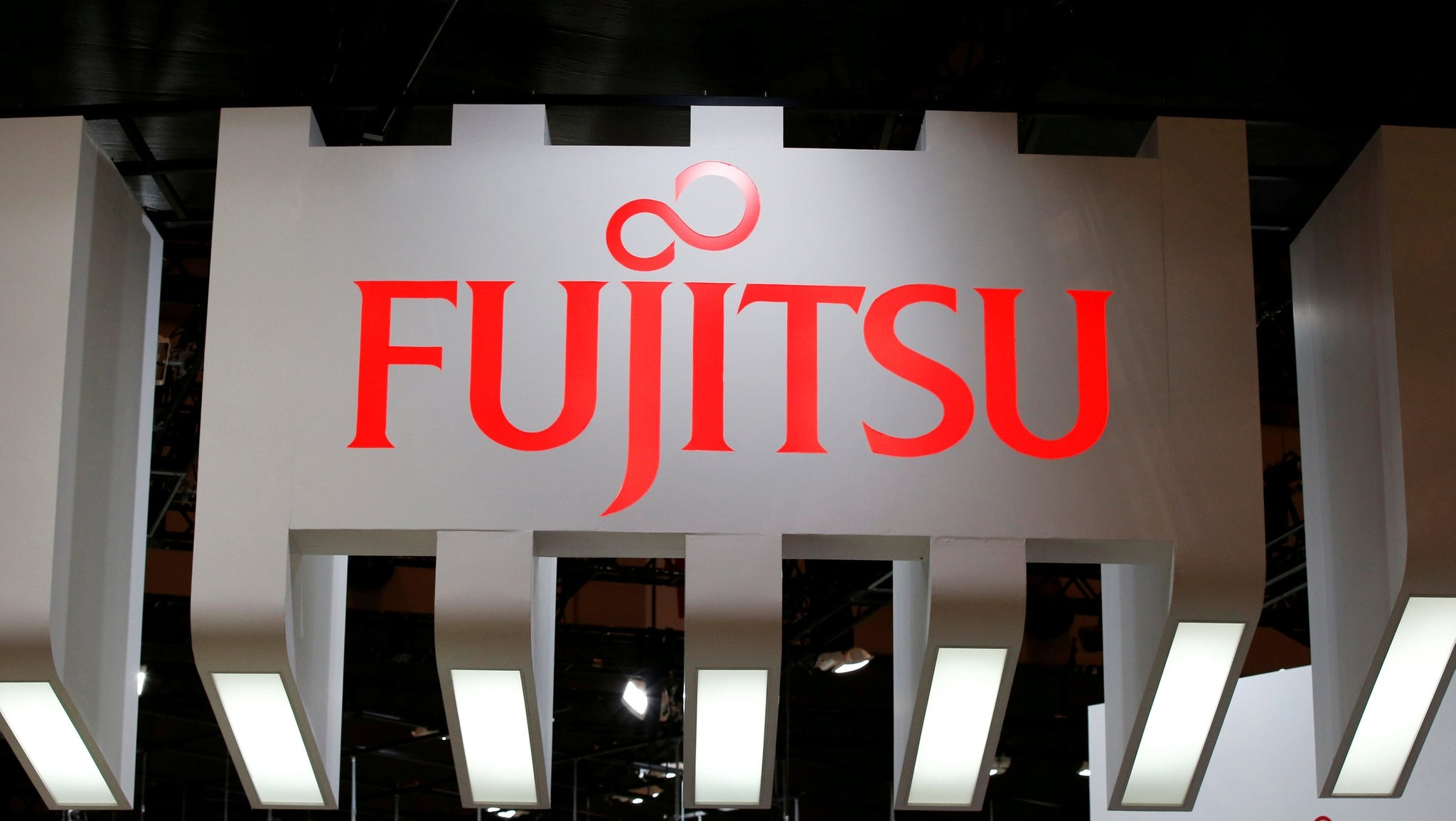 A logo of Fujitsu is pictured at CEATEC (Combined Exhibition of Advanced Technologies) JAPAN 2016 at the Makuhari Messe in Chiba, Japan, October 3, 2016. (REUTERS Photo)