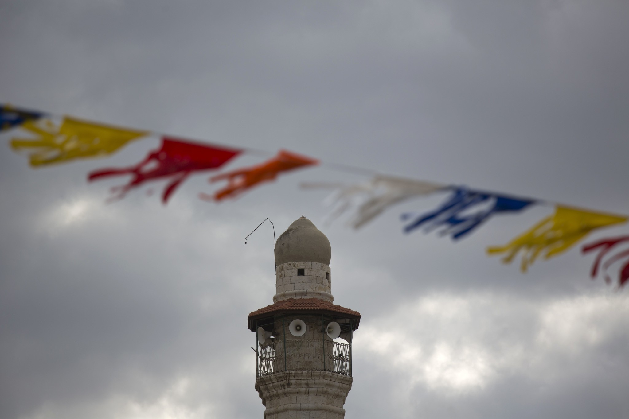 The minaret of a mosque is seen in Lod, a mixed Jewish Muslim and Christian city in central Israel, Wednesday, Nov. 16, 2016. (AP Photo)