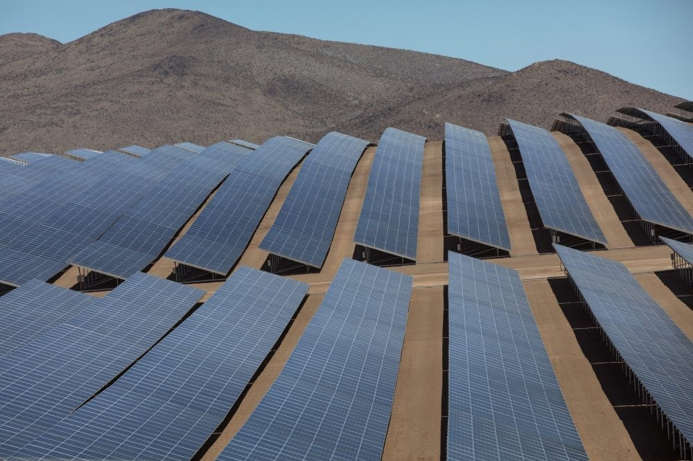 The solar plant El Romero in the Atacama Desert, Chile where the first purchase of renewable energy made by Google in Latin America with Acciona.
