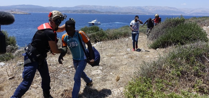 34 MIGRANTS STRANDED ON ISLAND IN AEGEAN SAVED