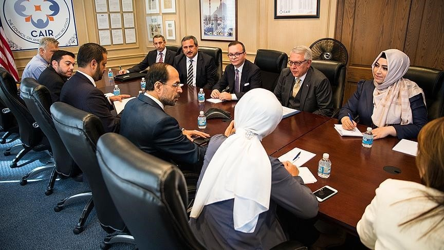 A Turkish parliamentary delegation meets with the Council on American-Islamic Relations (CAIR), the biggest Muslim NGO in the U.S., and talked to CAIR President Nihad Awad.