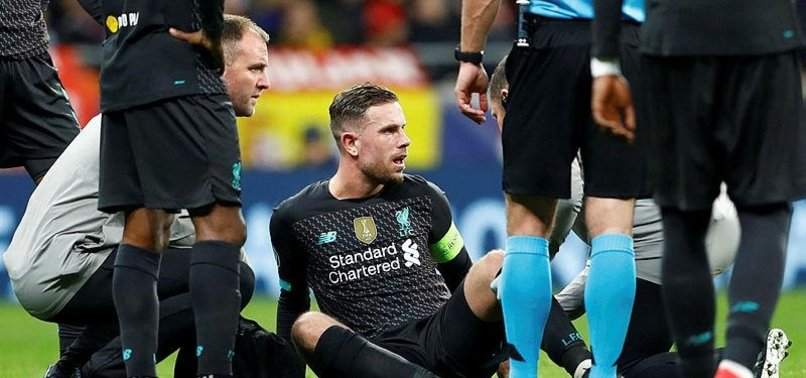 LIVERPOOL CAPTAIN JORDAN HENDERSON OUT FOR THREE WEEKS
