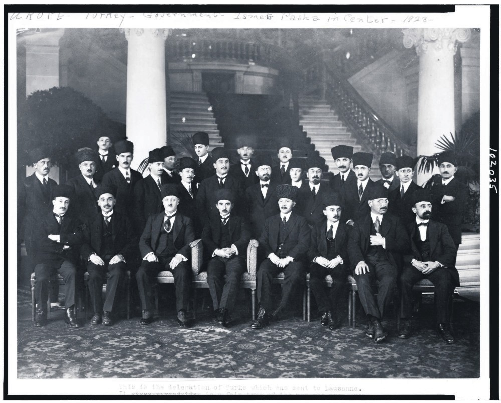 The Turkish delegation at the Treaty of Lausanne.