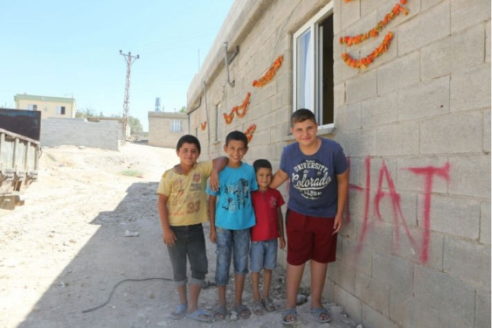 Children in Karkamu0131u015f are happy to see Daesh pushed away from the Turkish side of the Syrian border.