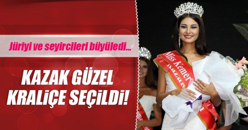 Kazak güzel Kemerde kraliçe seçildi