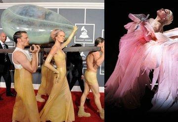Lady Gaganın meşhur Grammy elbiseleri