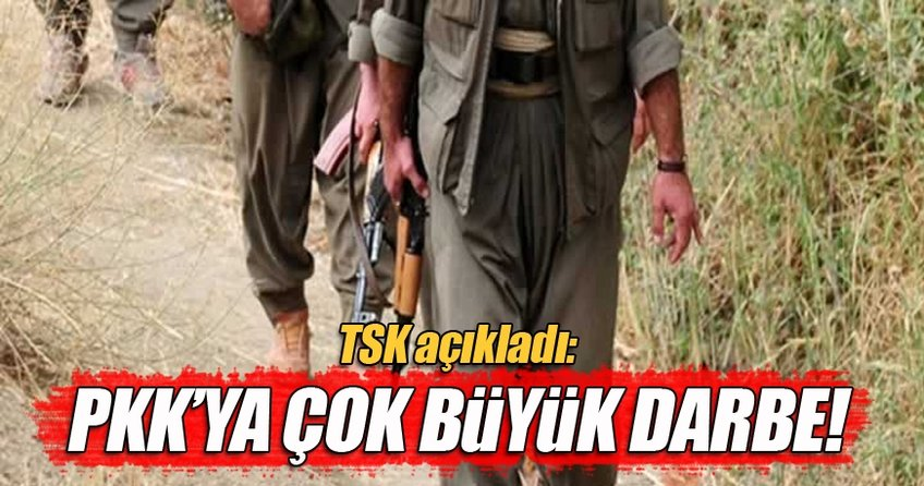 TSK açıkladı: PKK'ya ağır darbe!