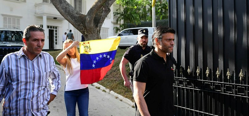 VENEZUELA OPPOSITION FIGURE LOPEZ ARRIVES IN MADRID