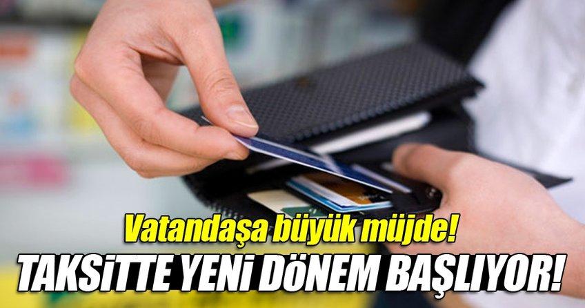 Market alışverişlerinde kredi kartıyla taksit imkanı