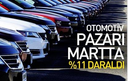 Otomotiv pazarı martta yüzde 11 daraldı
