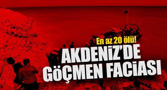 Akdenizde göçmen faciası!