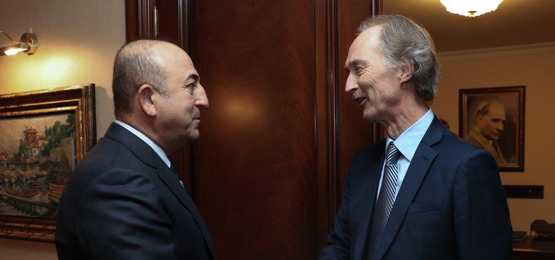 ÇAVUŞOĞLU MEETS UN SYRIA ENVOY TO DISCUSS POLITICAL SOLUTION FOR SYRIA