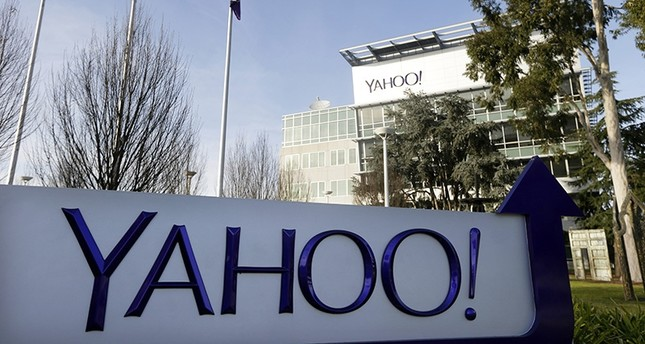 This Jan. 14, 2015, file photo shows a sign outside Yahoo's headquarters in Sunnyvale, Calif. (AP Photo)