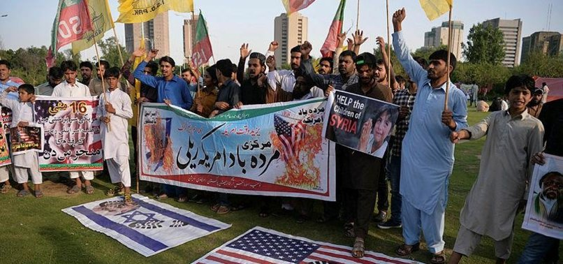 THOUSANDS IN PAKISTAN PROTEST AGAINST ISRAELI KILLINGS