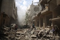 Assad air strikes kill at least 80 civilians including children in Syria's Aleppo