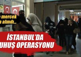 İstanbul'da fuhuş operasyonu 38 gözaltı
