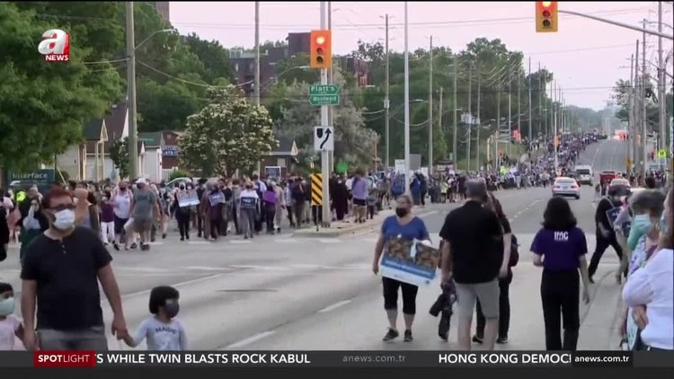 Thousands march in support of Muslim family killed in truck attack in Canada