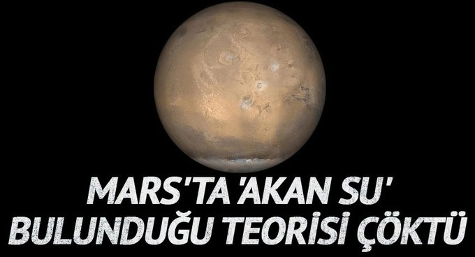 Marsta akan su bulunduğu teorisi çöktü