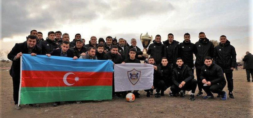 AZERBAIJAN FOOTBALL TEAM QARABAG VISITS LIBERATED AGHDAM AFTER 27-YEAR ARMENIAN OCCUPATION