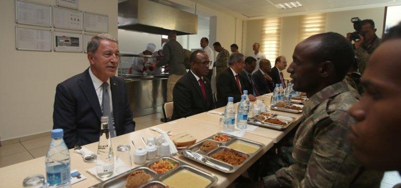 DEFENSE MINISTER AKAR VISITS TURKISH TASK FORCE COMMAND IN SOMALIA