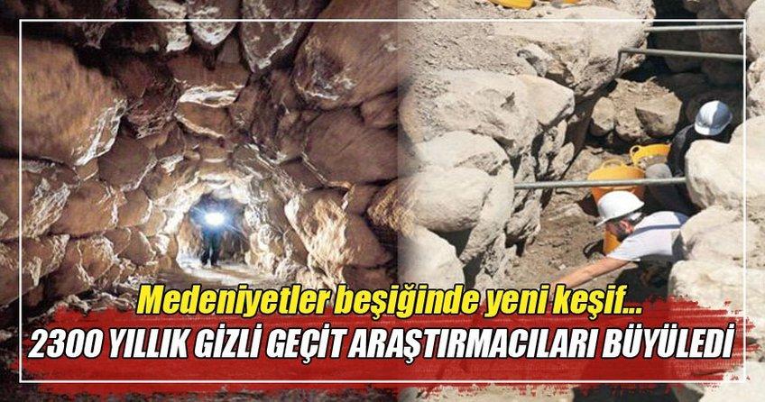 Alacahöyük'te 2300 yıllık gizli geçit bulundu