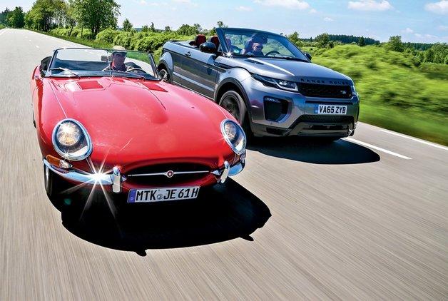 KARŞILAŞTIRMA · Jaguar E-Type Roadster, Range Rover Evoque Cabriolet