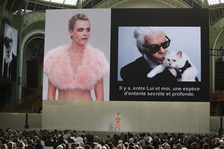 Karl Lagerfeld'i anma töreni düzenlendi